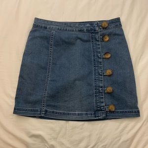 Denim Skirt FREE PEOPLE